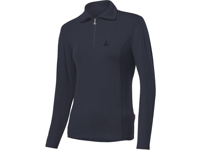 Löffler Basic Transtex Zip-Sweater mit Umlegekragen Damen graphite